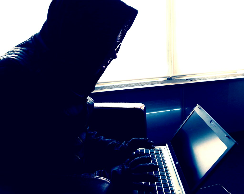 cybercriminal at computer