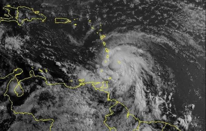 Hurricane Elsa Sattelite Image