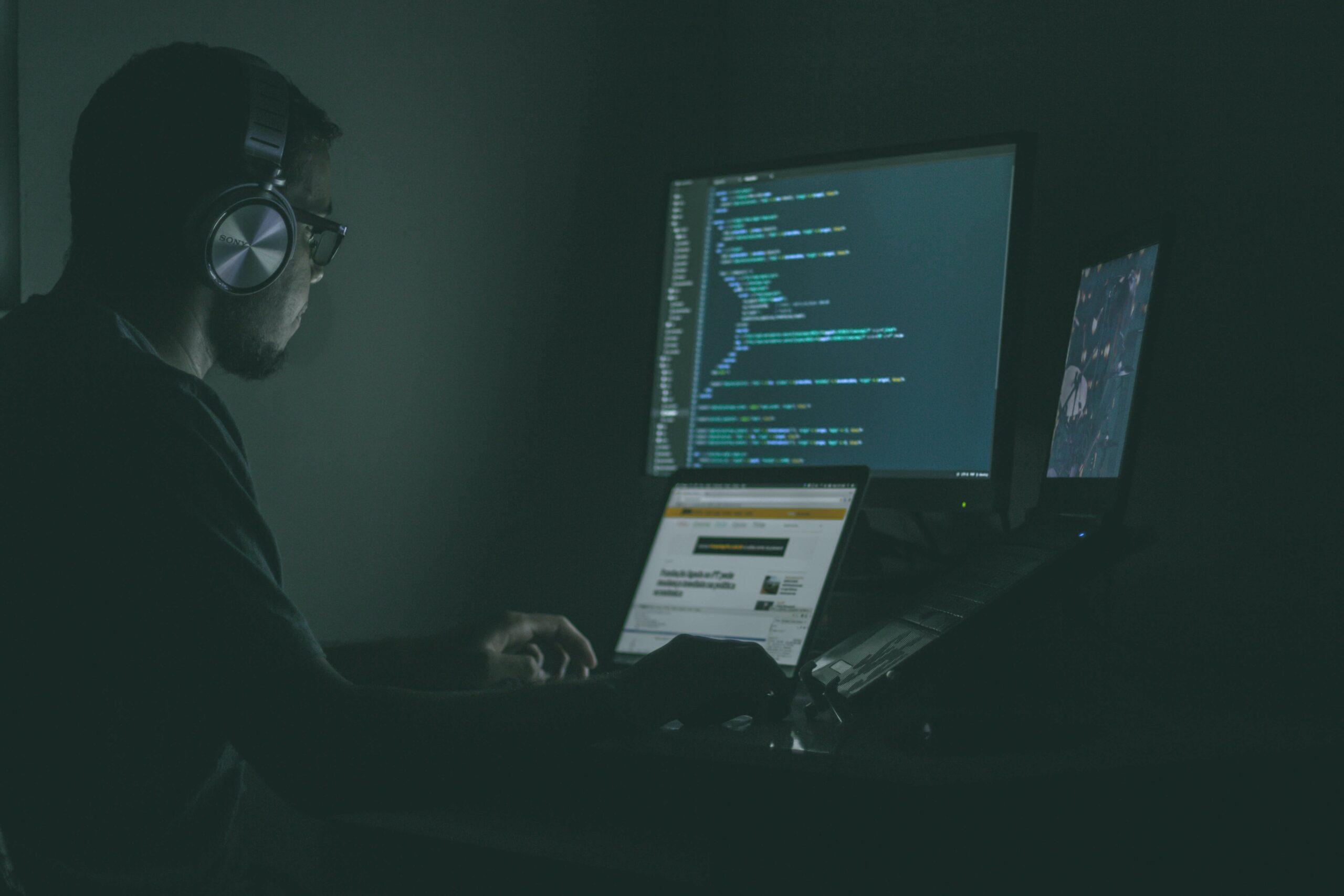 hacker at a computer