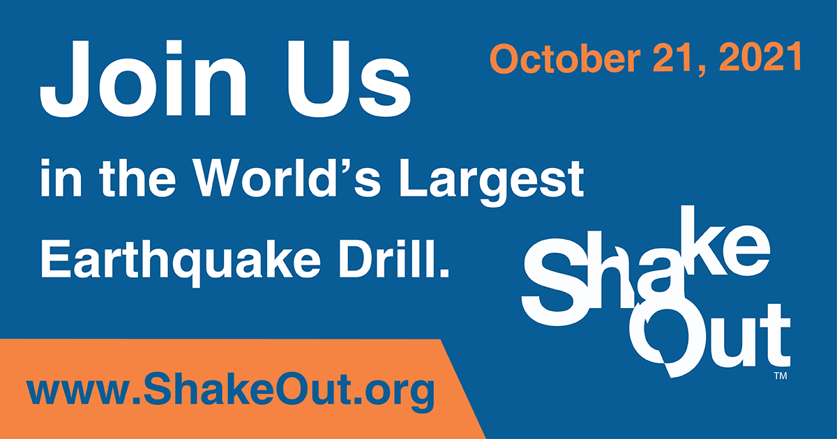 Shake Out Earthquake Drill